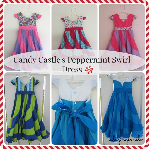 Peppermint Swirl dress collage